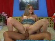 Tight teen pussy gets creampied