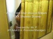 Adult Film Star Mocca Brown XXX Shower Scene (Full Version)