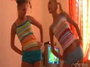 Tight Lesbians Dance And Strip Naked