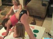 Sexy lesbian teens playing twister