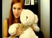 Redhead slut rubs her cunt