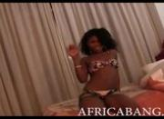 This African amateur beauty gets exploited and then boned hard by a white man with a strong cock