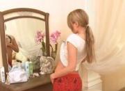 tight blondie before mirror