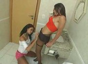Bathroom Blowjob Action