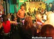 Scene one begins with some of the male strippers w