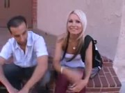 Barbie Addison, Tight teen fucks a man in front of the camera for cash