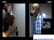 Girl watches gay guys at the gloryhole