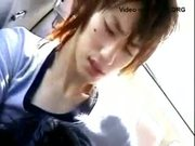 Japan blowjob on the bus