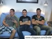 Three handsome boys sucking dicks