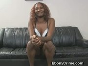 Hood Rat Gets Big Black Cock Stuffed Down Her Throat And Gags