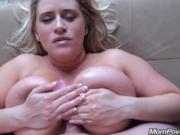 Big natural tits MILF flashes on public beach