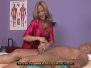 Tammy gives a massage to a horny guy.
