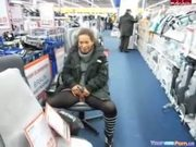 Crazy German Girl Pisses In A Store