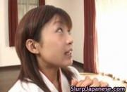 Ami Kitakima takes two cocks at the same