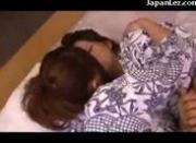 Girl In Kimono Getting Her Nipples Sucked Pussy Licked On The Mattress