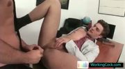Two awesome hunks having gay sex in office by workingcock