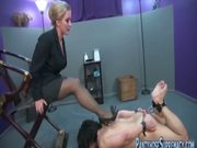 Mistress Dia Zerva pantyhose punishment of male