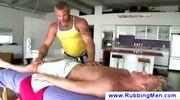 Tough masseuse gives a blowjob