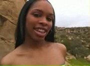 Ebony Babe Fingering Both Her Holes