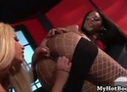 Gina Lynn and Marie Luv are two interracial lesbia