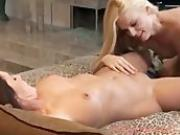 mature woman and younger blonde having sex