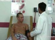 Doctor examining hot body