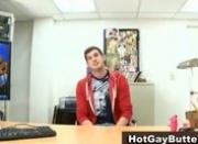 Gay mastrubating in front of boss