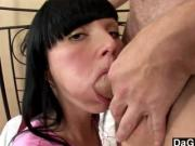 Dark Haired Cuties First Cumshot