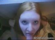redhead amateur teenie cumshot and facial