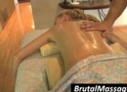 Gorgeous hoe gets oil massaged