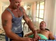 Gay straight oil massage blowjobs