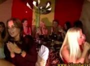 Amateur girls suck off dancing stripper