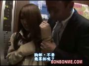 japanese schoolgirl in elevator