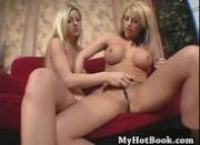 Bisexual blondes Avy Scott and Brooke Haven are h