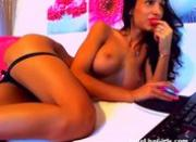 hot brunette playing with a purple dildo(1).flv