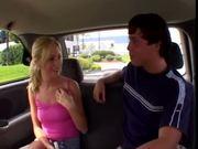 Hillary Scott fucks a nerd in backseat