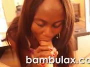 African ebony teen slut blowjob cum in mouth!