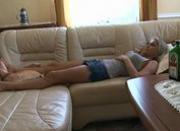 Threesome Party with Drunken Disorder Blond Girl