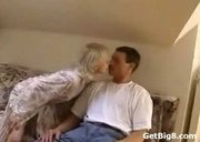 Hot Blonde Banged on Couch