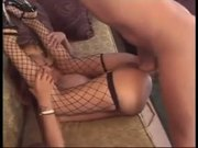 Asian blonde chick gets nasty