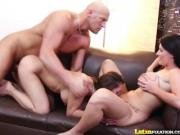 LatinFixation Beautiful Brunette Sophie Dee Tag Teams a Thick Cock