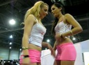 Lexi Belle & Georgia Jones Arm Wrestle at the 2009 AVN Convention