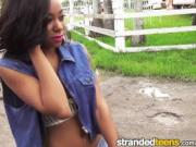 StrandedTeens - Sexy ebony teen needs some help