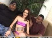 Mia Starr gets double penetrated by two black cocks
