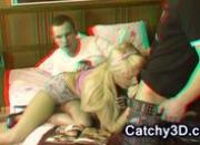 Hot blonde college slut gets double teamed
