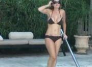 Busty bikini girlfriend teasing sucking fucked and anal