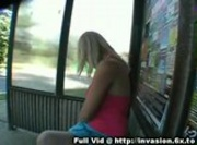 Blonde Public Titty Flashing