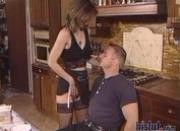 Housewife is pleasing her man