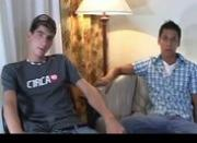 Amazing teens in horny gay porn foursome