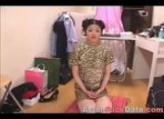 Innocent Asian girl gets massive facial load